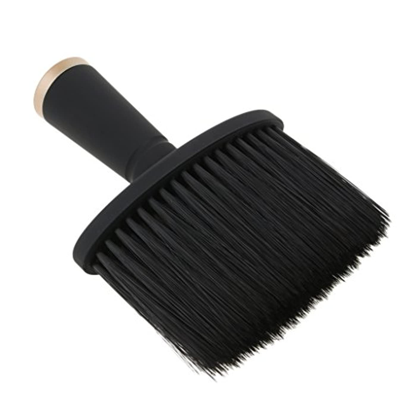 FutuHome 専門の理髪師の首の塵払いのブラシ、毛の切断のための柔らかいクリーニングの表面ブラシ、携帯用設計 - ゴールド
