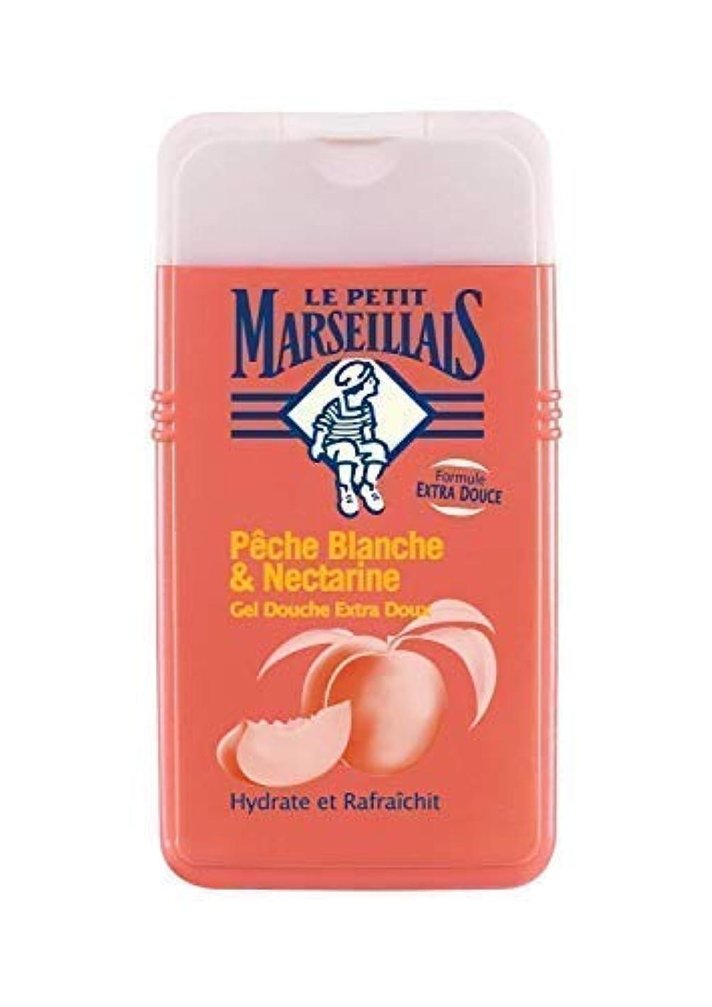 ブランド名経験的衝撃「ホワイトピーチ」と「??ネクタリン」シャワージェル ???? フランスの「ル?プティ?マルセイユ(Le Petit Marseillais)」 250 ml ボディソープ