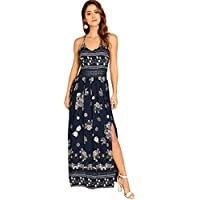 Floerns Women's Sleeveless Sundress Beach Maxi Long Dress