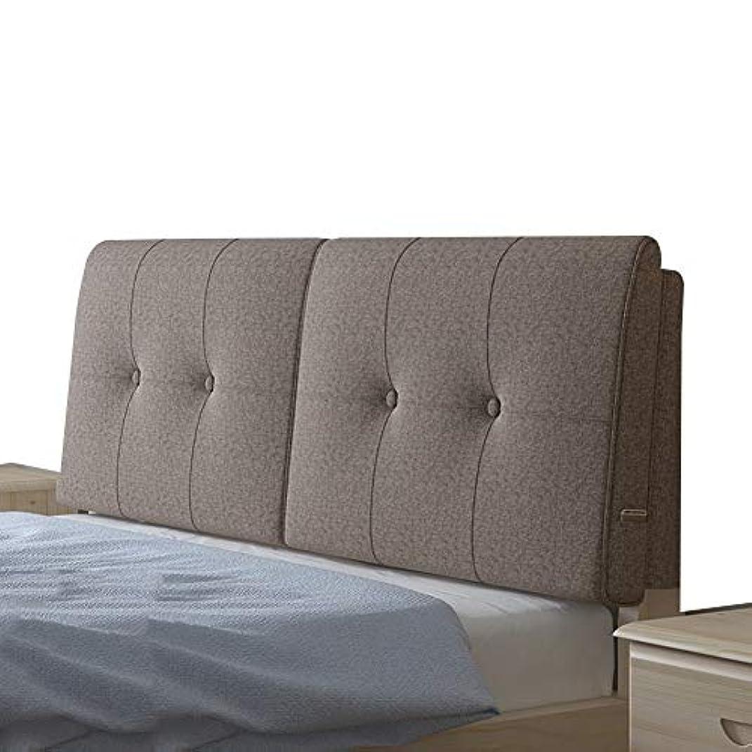 暫定メーカーいまKKCF ヘッドボードクッション一杯快適耐摩耗性お手入れが簡単ホームホテルコットンとリネン 、5色 4サイズ (Color : D, Size : 180cm)