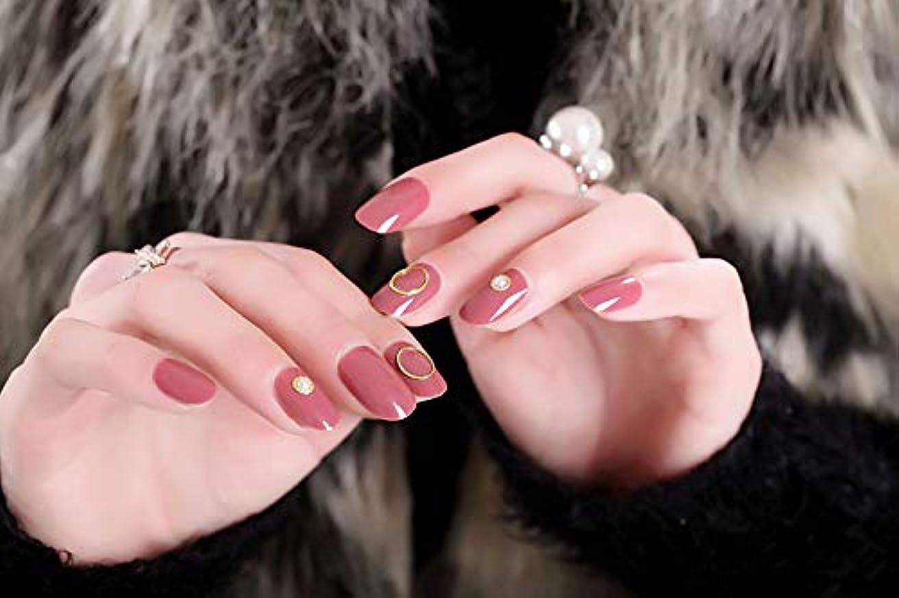 対かろうじて特に24枚入 手作りネイルチップ ネイル花嫁 ゴールデンビーズ 円の装飾 かわいいとエレガント 花嫁の爪のチップ (パルマ)