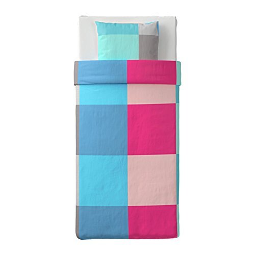 IKEA/イケア BRUNKRISSLA:掛け布団カバー&枕カバー150×200cm マルチカラー (403.755.15)