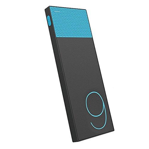 (リラックス)RELAX 大容量 モバイルバッテリー パワースリム 9000mAh 極薄型 急速充電 超軽量 2USBポート (ブルー)