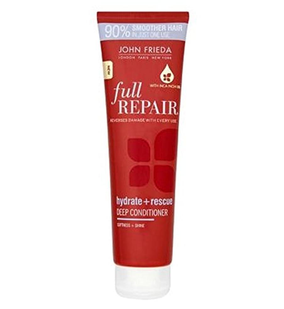 手がかりつらいスプリットジョン?フリーダ完全な修復水和物+救助深いコンディショナー150ミリリットル (John Frieda) (x2) - John Frieda Full Repair Hydrate + Rescue Deep Conditioner...