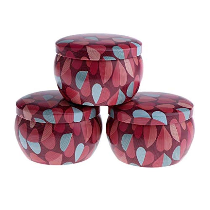 速記過剰スリーブF Fityle 3個 キャンドル缶 DIY お茶 ジャー メタル ポット 化粧品詰替え容器 4タイプ選べ - A