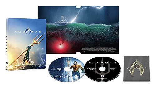【Amazon.co.jp限定】アクアマン スチールブック仕様 4K ULTRA HD&ブルーレイセット (限定生産/2枚組)(オリジナルピンバッジ付) [Blu-ray]