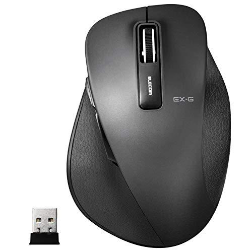 エレコム マウス ワイヤレス (レシーバー付属) Lサイズ 5ボタン