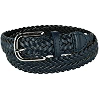 Aquarius Boys' Braided Belt with Single Prong Buckle