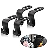 Universal Vehicle Car Backseat Headrest Hanger Storage Organizer-Strong and Deep Enough for Handbags, Purses, Coats, and Groc