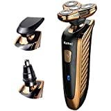 QINJLI 4 ナイフ洗浄かみそり多機能電気シェーバー コーナーをフローティング ナイフ鼻ナイフ 3 つ合わせて 16.5 * 6 cm