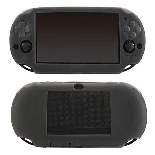 新品 SNNC-JP Play Station Vita PCH-2000用 プロテクト ケース シリコン保護カバー プロテクトフレーム for PSV2000 ブラック