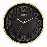 Citizen CC2025 Gallery Wall Clock, Black, Gold