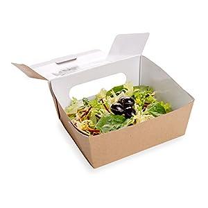 小さなカフェビジョンコレクションBioランチボックス2つのWindows 28オンス200カウントボックス L ブラウン RWA0176