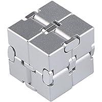 Infinity Cube Toys インフィニティキューブ 無限キューブ アルミニウム合金 任意の方向と角度から回転でき ストレス消し 悪習に改善して おもちゃ マジック(銀)