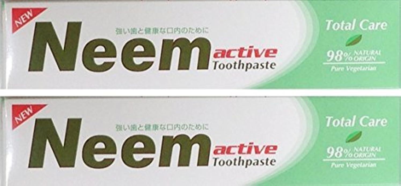 樹皮あたたかいパック【2本セット】Neem 歯磨き粉 200g  (新パッケージ)