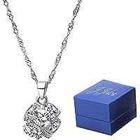 ネックレス シルバー 925 ダイヤモンドにこだわりシルバーネックレス レディース シルバーアクセサリー バレンタインギフト 誕生日 記念日 母の日プレゼント
