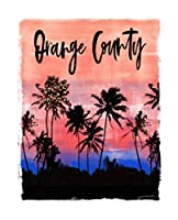 Orange County: California Christmas Notebook With Lined College Ruled Paper For Taking Notes. Stylish Tropical Travel Journal Diary 7.5 x 9.25 Inch Soft Cover. For Home, Work Or School.