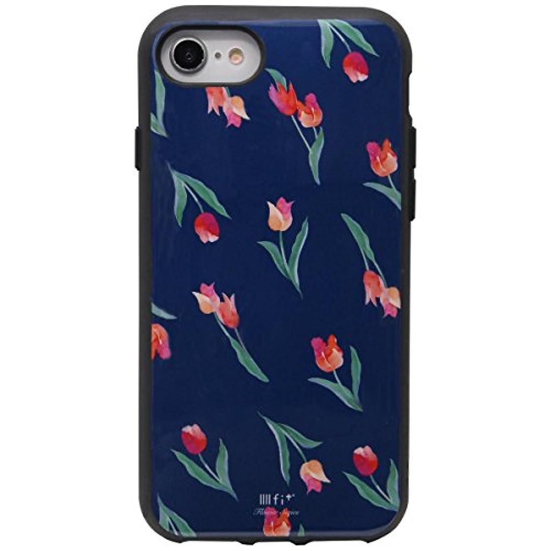 縫う呼び起こす駅グルマンディーズ IIIIfi+(R)Premium(イーフィットプレミアム) iPhone8/7/6s/6(4.7インチ)対応ケース ネイビー ift-10c