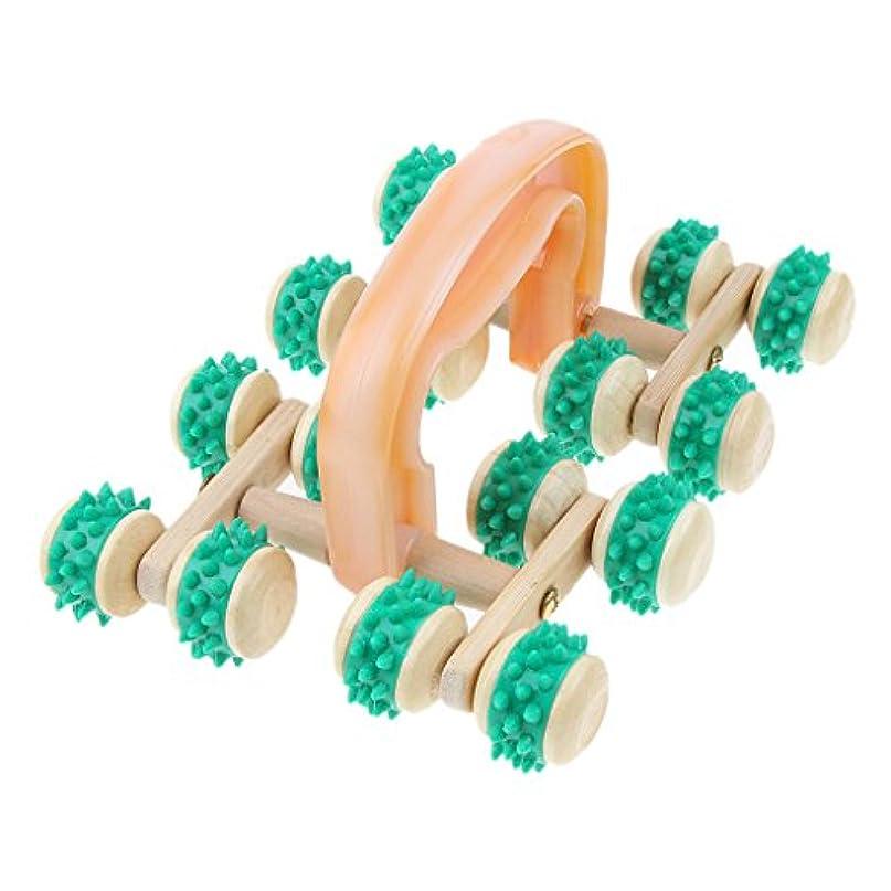 マナー健全今日Hellery トリガーマッサージ マッサージ機 スパイクホイール プラスチック ゴム製 木製輪 高齢者 ポータブル