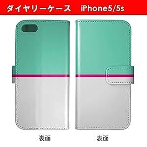 手帳型 iPhoneSE/5/5S ケース 電車風 鉄道風 アイフォンSE/5s/5