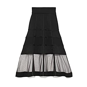 [ファーファー] ブルームパニエニットスカート RWNS184041 レディース BLK 日本 F (FREE サイズ)