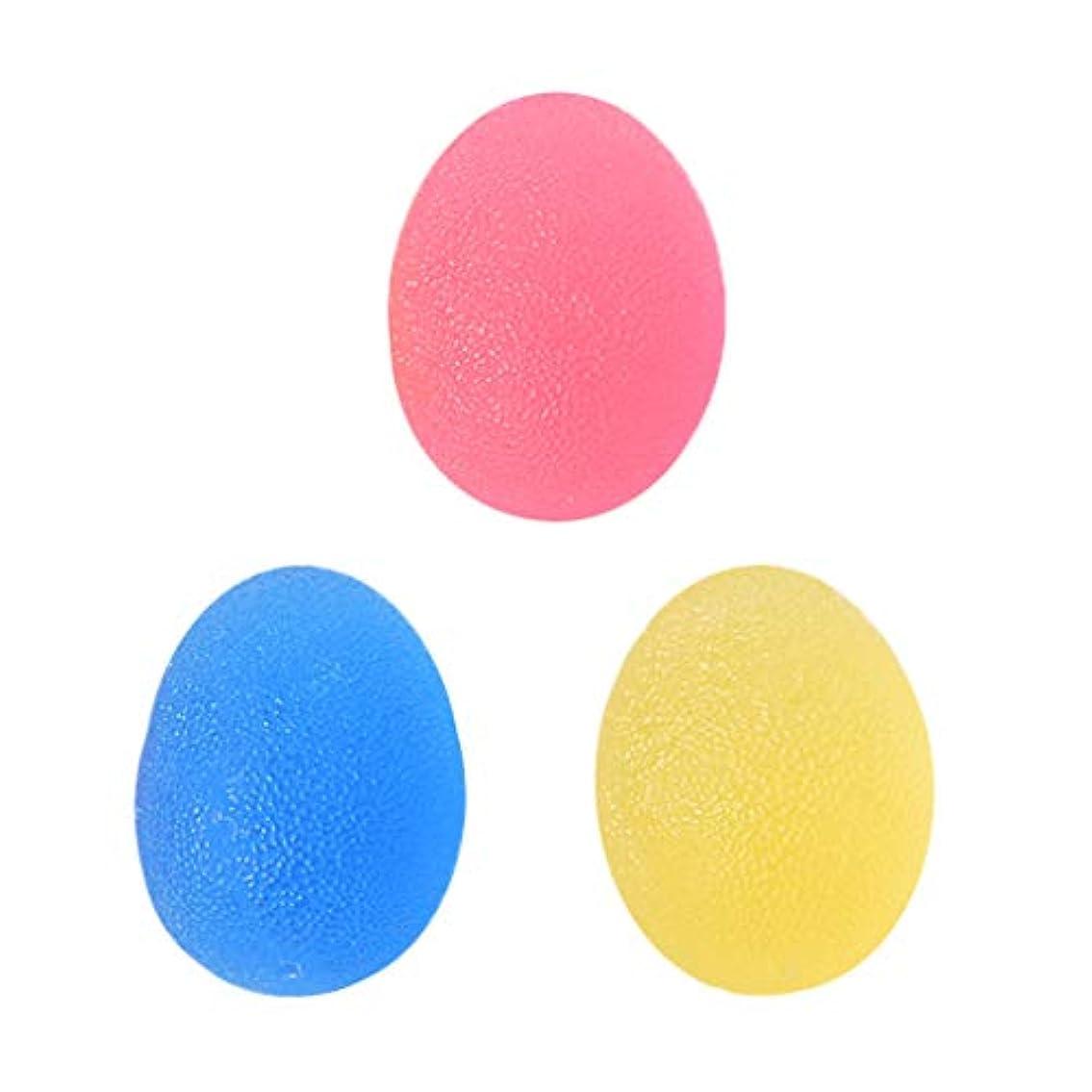 管理する夜間抽象化3個 ハンドエクササイザ スクイズボール ツボ押し 強度ボール TPE製