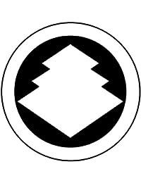 家紋シール 張り紋 黒紋付用 nkp 日向紋 3.9cm 6枚組 丸に三階菱