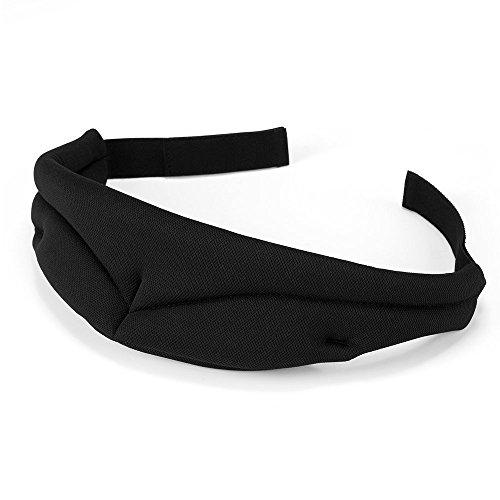 PLEMO 立体型睡眠アイマスク 男女兼用 100%遮光 軽量・究極の柔らかシルク質感 超ソフト 記憶フォーム 曲線 通気性 睡眠、旅行に最適 EM-456(マルチサイズ・ブラック)