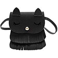 Crossbody Bag With Tassel Cute Cat Shoulder Bag Mini Coin Purse