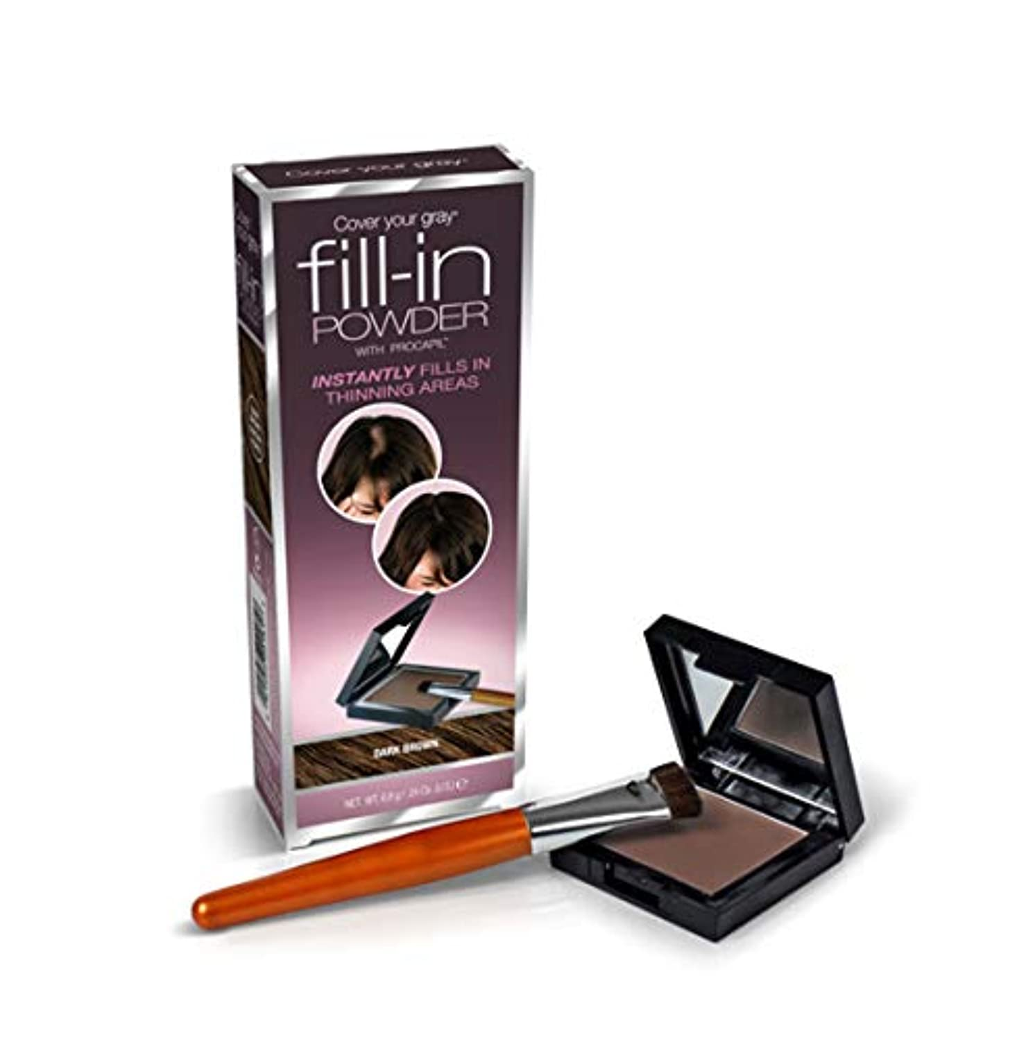 文法アクティビティ幻影Cover Your Gray Fill In Powder for women Instant Touch Up DARK BROWN by FILL-IN