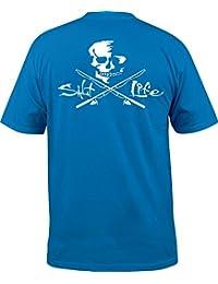 [ソルトライフ] メンズ シャツ Salt Life Men's Skull and Poles T-Shirt [並行輸入品]