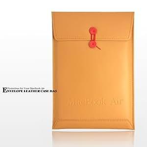 Light TAN 新MacBook Air13インチ用 Envelope Leather Case Bag ブラウン