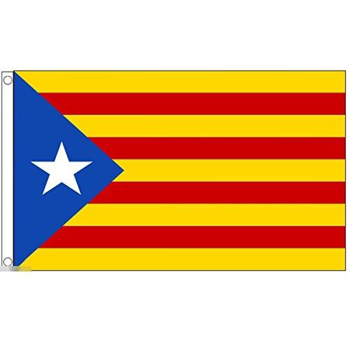 国旗 カタルーニャ州 スペイン 特大フラッグ【ノーブランド品】