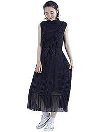 cb908ae57a1ef Amazon.co.jp  ブラック - ワンピース・チュニック   ワンピース・ドレス ...