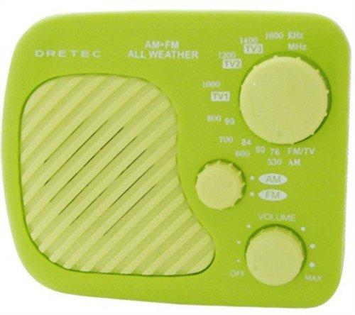 DRETEC AM/FM 防滴ラジオ 「ラーク」 グリーン PR-315GN