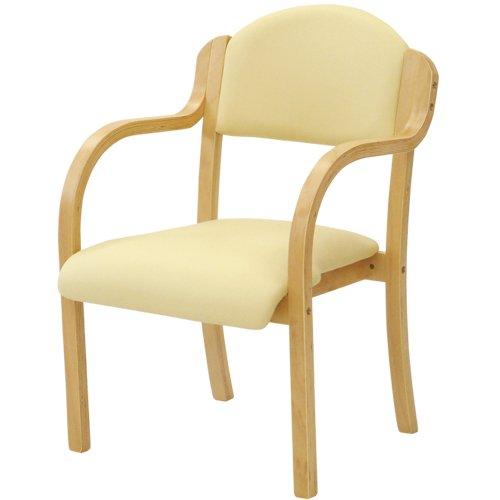 ダイニングチェア 完成品 スタッキングチェア 木製 椅子 肘付 ダイニングチェアー