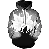 Leezeshaw Unisex Hoodies Dragon Ball Z Goku 3D Japanese Anime Print Pullover Hoodie Sweatshirt with Kangaroo Pocket