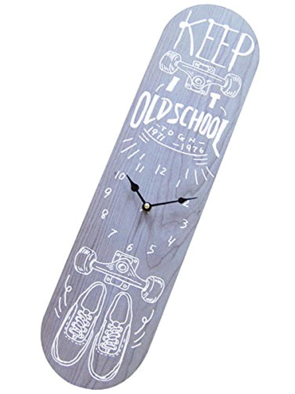 スケートボード ウォールクロック/BL 壁掛け時計「SKATE BOARD/スケボー/BL」オリンピック?通販/インテリア/デッキ おしゃれ時計 アメリカン雑貨 アメリカ雑貨屋 スケボー