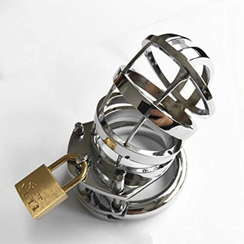 LRWTY メタルアダルトエロヘルスケア製品男性のバニティロックCBリリーフボディ痛みプレッシャートレーナー修理JJケージ LW ( Size : 4cm )