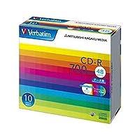 三菱ケミカルメディア/CD-R / 700MB / PCデータ用 / 48倍速対応 / 10枚スリムケース入り / ワイド印刷可能 / SR80SP10V1