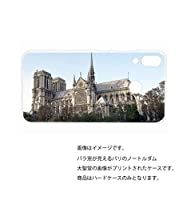 ZenFone 5 ZE620KL 用 クリアハードケース 建物プリント (バラ窓が見えるパリのノートルダム大聖堂)