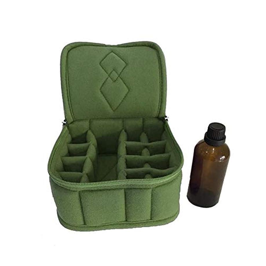 法令乳白応じるPursue エッセンシャルオイル収納ケース アロマオイル収納ボックス アロマポーチ収納ケース 耐震 携帯便利 香水収納ポーチ 化粧ポーチ 12+1本用