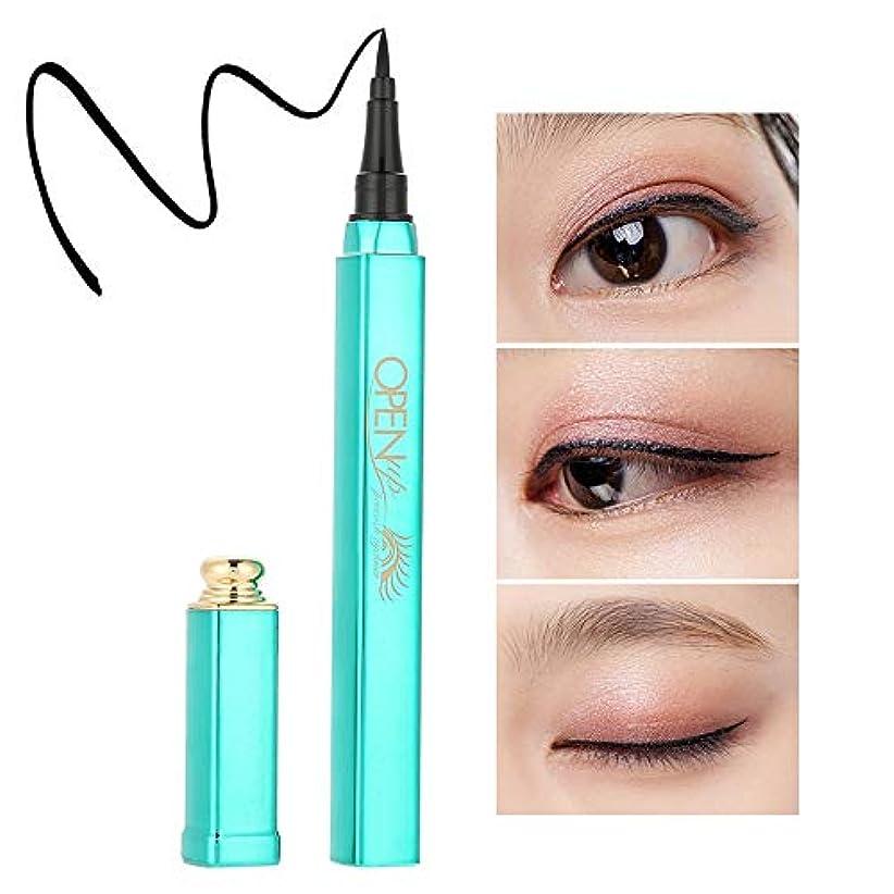 脱臼する第二に情緒的防水 高速 乾燥 液体 アイライナーペンシル 耐汗 アイメイクアイライナーペン化粧品ツール