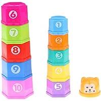 Kesoto 子どもおもちゃ バスタイム 虹カップ塔 スタッキングカップおもちゃ ギフト 11個入り