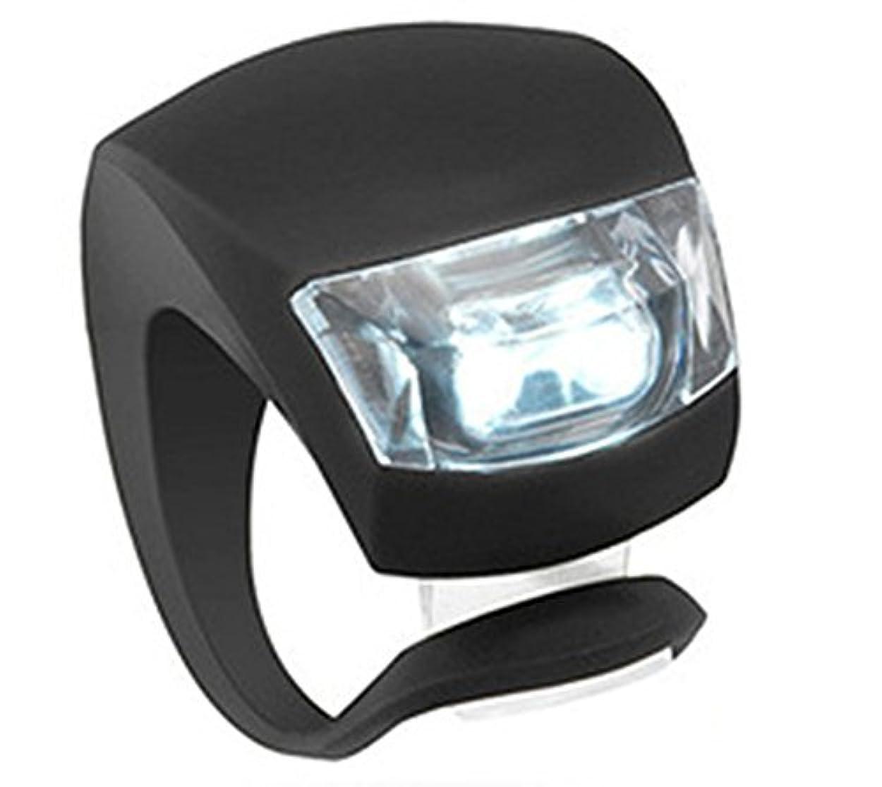 忠実な予防接種あいまい装着簡易 高輝度LED2灯 シリコン 自転車 フロントライト
