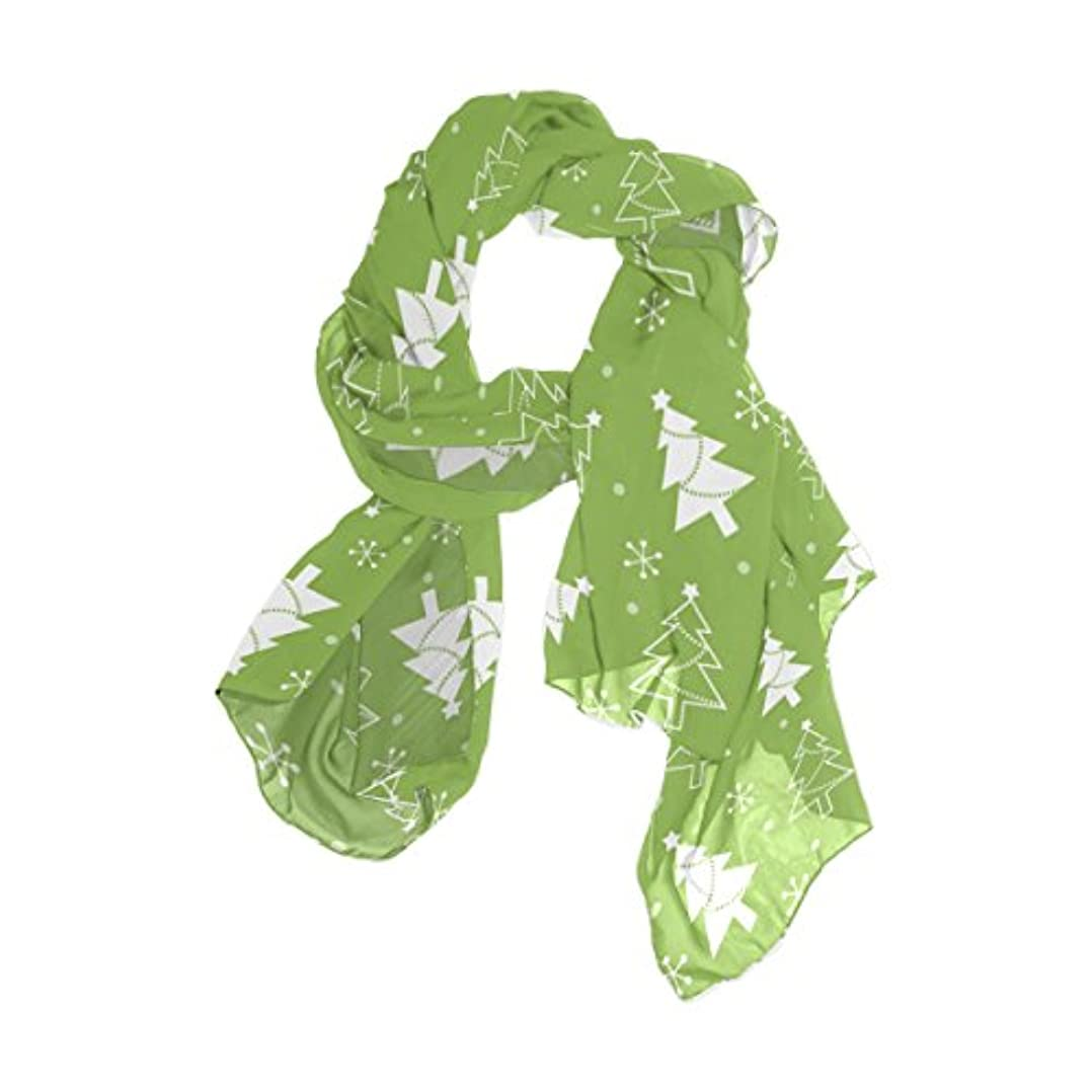 組み立てる承認する繕うユサキ(USAKI) ストール レディース 春夏 大判 UVカット 冷房対策 スカーフ シルク 肌触り ショール パーティー 90×180cm 木 柄 グリーン