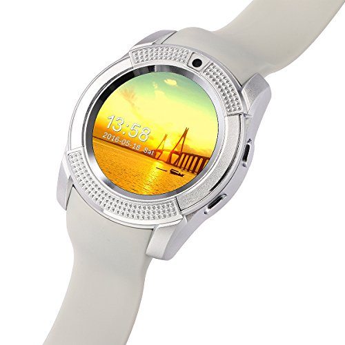 8dc9c1a464 STK スマートウォッチ Bluetooth smart watch フルタッチ ウォッチ 多機能 時計 健康 カメラ搭載ブルートゥース腕時計 通話 対応来電通知 sim/TF対応 ボイスレコーダー ...