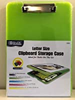 Economical Letter Size Clipboard Storage Case (Top-Hinged) (Translucent Green) [並行輸入品]