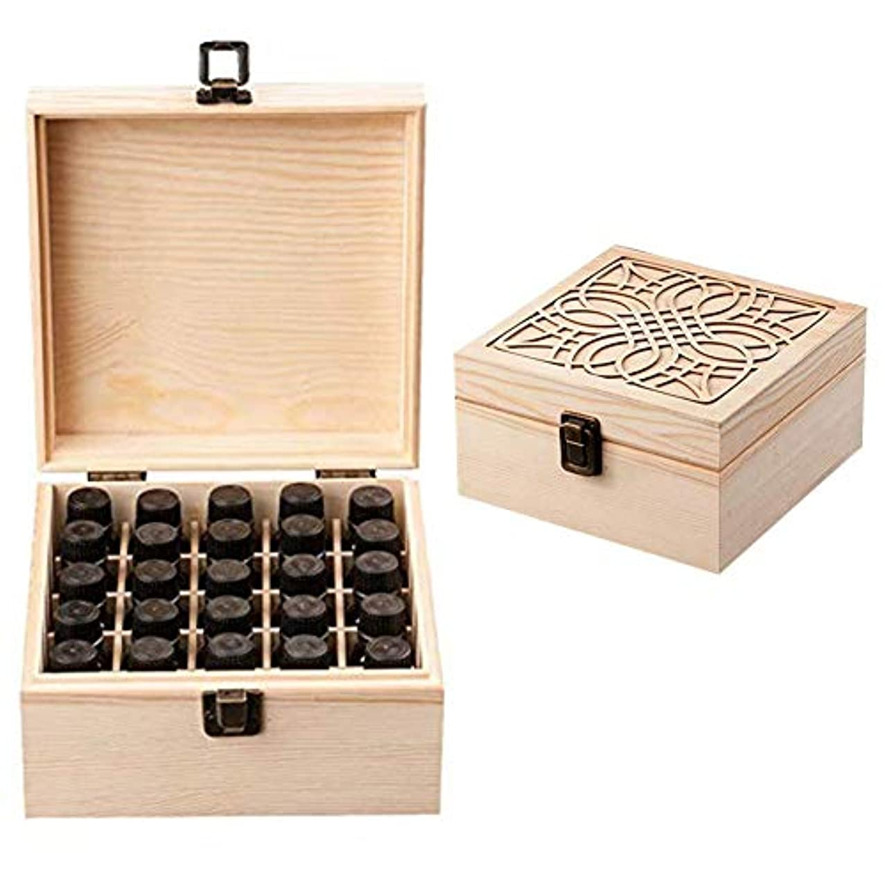 増加する自発的冷凍庫エッセンシャルオイル収納ボックス 大容量 和風 レトロ 木製 精油収納 携帯便利 オイルボックス 飾り物 25本用