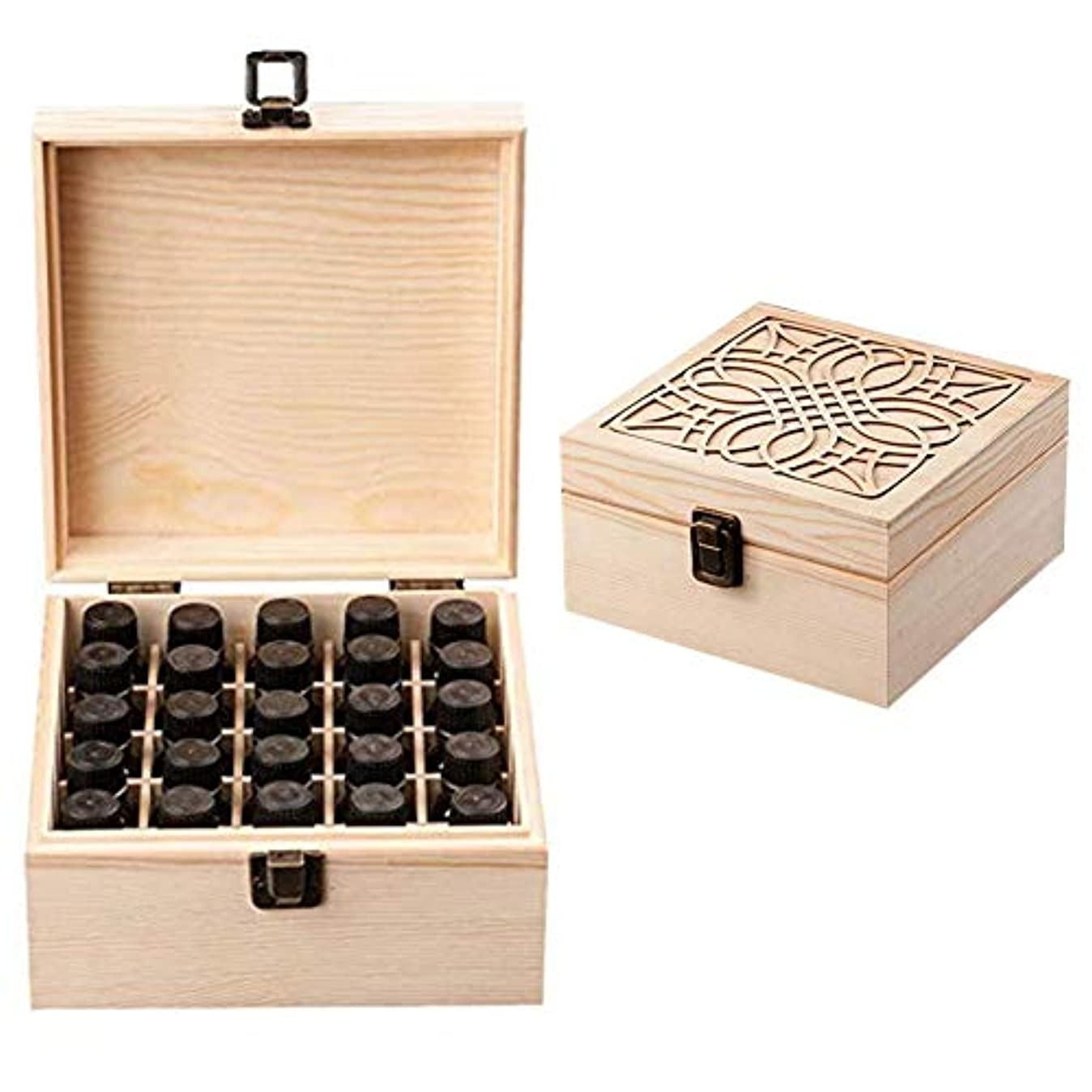 いわゆる一回含めるエッセンシャルオイル収納ボックス 大容量 和風 レトロ 木製 精油収納 携帯便利 オイルボックス 飾り物 25本用